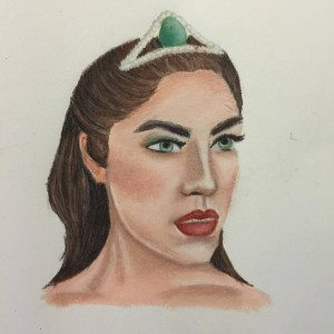 Fantasy character, Prismacolor colored pencil on paper. March 2016.