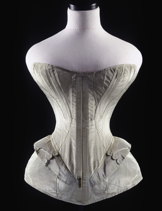 Corset 19th Century The blue corset  top  dates to