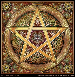 Golden Knotwork Pentacle - Jessica Jewett Online